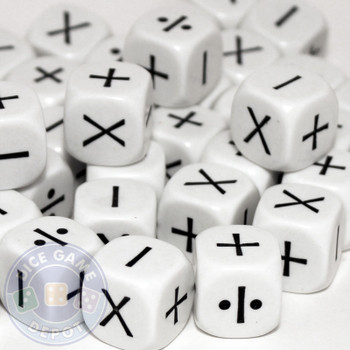 Math dice set of 200 - Four function (Plus, Minus, Multiply, Divide)