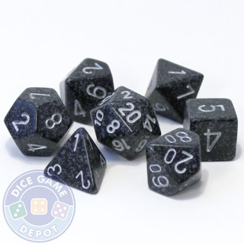 7-piece D&D role-playing dice set - Ninja