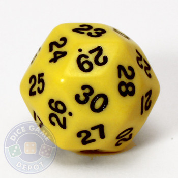 30-sided dice - Yellow