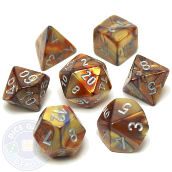 D&D dice - 7-Piece RPG Dice Set - Lustrous Gold