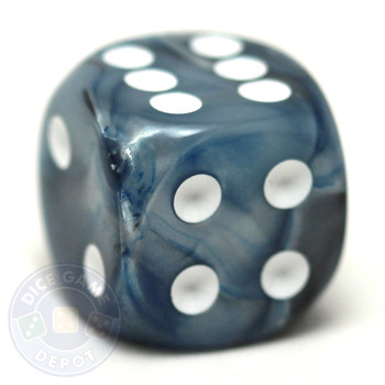 Lustrous Slate d6 dice from Chessex