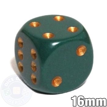Dusty green dice d6