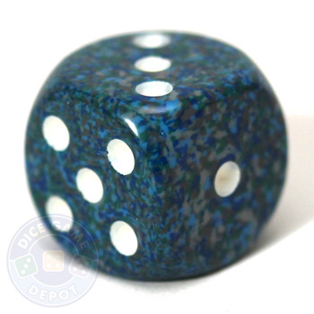 Speckled d6 dice - Sea