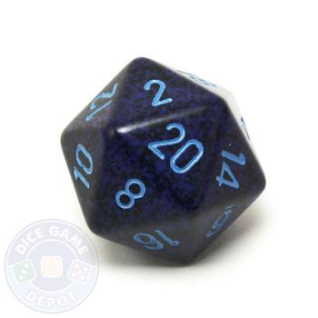 Big d20 - 34mm speckled Cobalt dice