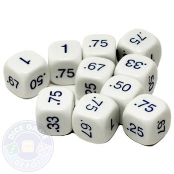 Decimal dice - Set of 10