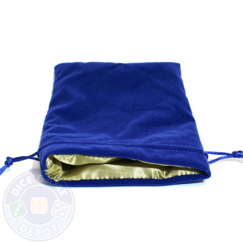 Gold satin-lined velvet dice bag