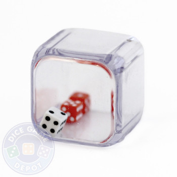 Triple Dice - 3 in a cube - 2 red 1 white