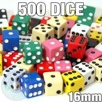 Assorted 16mm dice - Set of 500