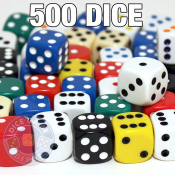 Assorted 16mm round-corner dice - Set of 500