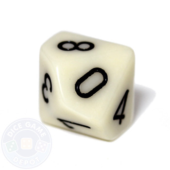 d10 - Opaque ivory
