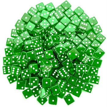 19mm transparent green dice