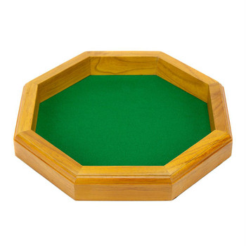 Wooden hexagon dice tray