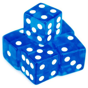 Transparent Dice - Set of 5 Blue 19mm d6s