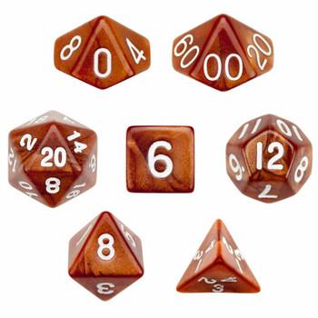 Copper Sands dice set