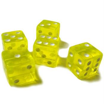 Yellow transparent 16mm dice