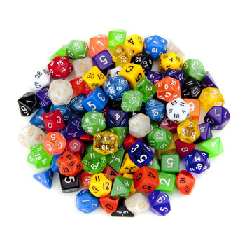 Assorted random polyhedral dice - Pack of 100