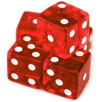 19mm Transparent Red Dice