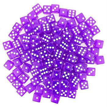 Transparent Dice - Set of 100 Purple d6s