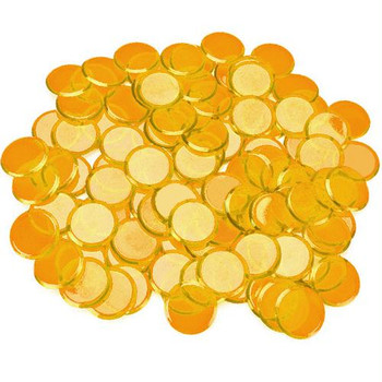 Bingo Chips / Counting Chips - Orange - Pack of 100