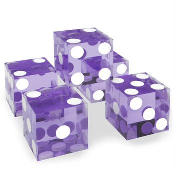 Precision Dice - Set of 5 New Violet 19mm d6s