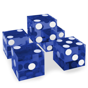 Blue precision dice