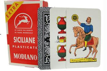 Italian playing cards - Siciliane N96