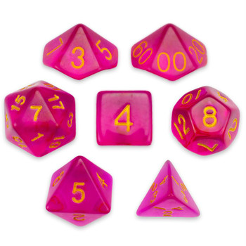 Faerie Fire dice set