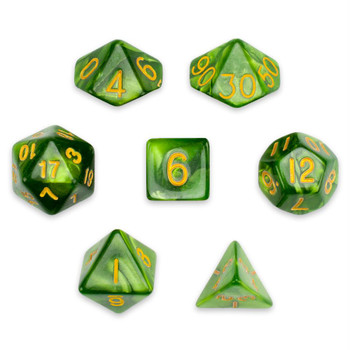 Jade Oil dice set