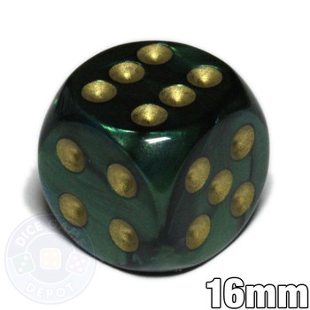 Jade Scarab 6-sided dice