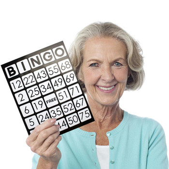 EZ Readers Jumbo Bingo Cards, Pack of 25