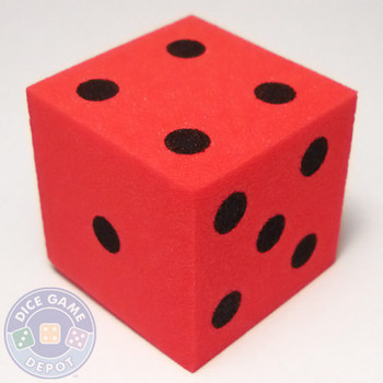 Foam Dice - 25mm - Red
