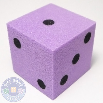 Foam Dice - 25mm - Violet