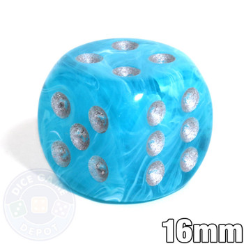 Cirrus Aqua 6-sided Dice