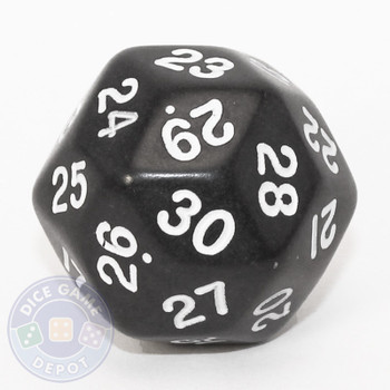 30-sided dice - Black