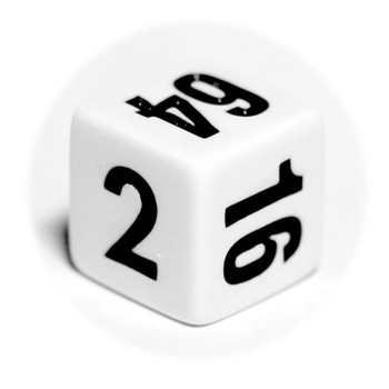 White backgammon doubling cube