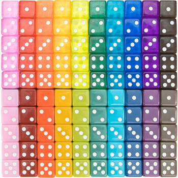 Set of 100 Vintage assorted dice
