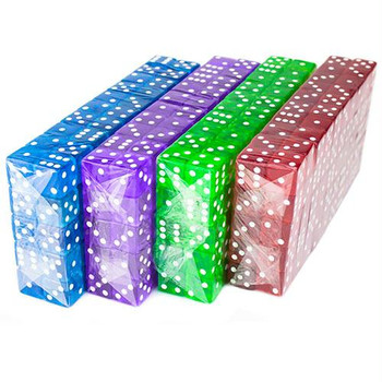 19mm transparent dice - Set of 400