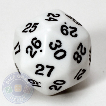 30-sided dice - White