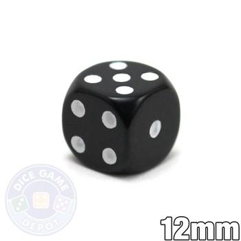 Round-corner 12mm Dice - Black