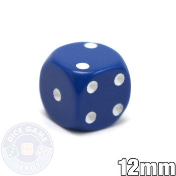 Round-corner 12mm opaque dice - Blue