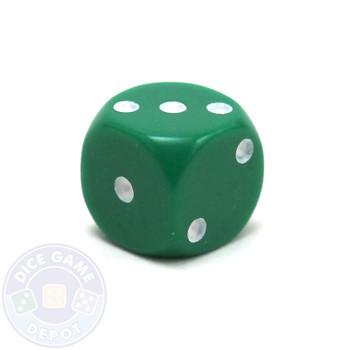 Round-corner 12mm opaque dice - Green