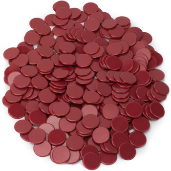 Bingo Chips/Counting Chips - Solid Red