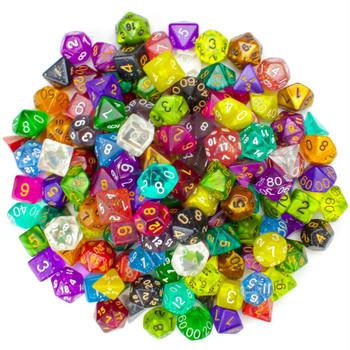 Pack of 100+ Random Polyhedral Dice