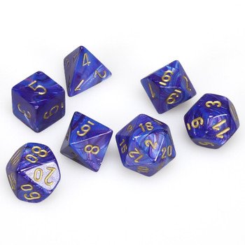 Lustrous purple dice set