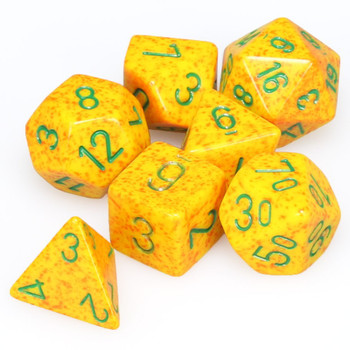 Speckled Lotus dice set - DnD dice