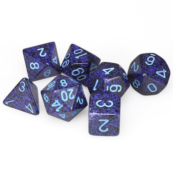 Speckled Cobalt polyhedral dice set - DnD dice