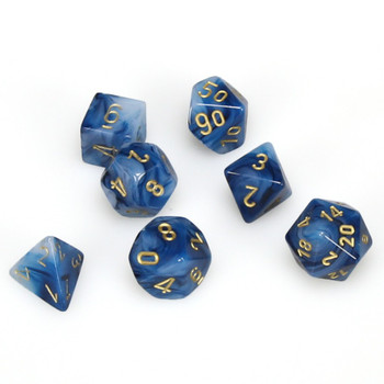 7-piece set of D&D RPG dice - Phantom - Teal