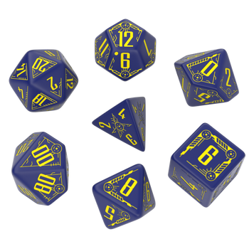 Galactic dice set - Navy