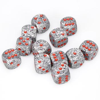 Speckled Granite dice - set of 12