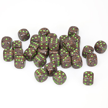 12mm Speckled Earth d6s - Set of 36